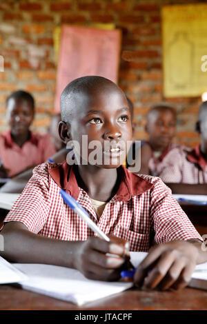 Ugandische Schule, Uganda, Afrika Stockbild