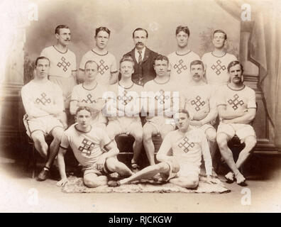 Gruppenfoto, Athletik Team in Sports Gear. Stockbild