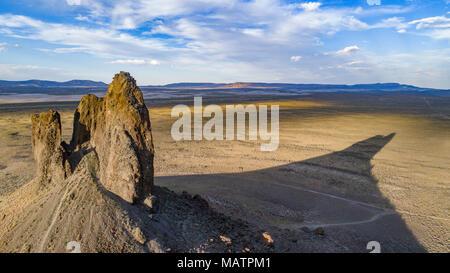 Die Wildschweine Tusk, rote Wüste Gegend in der Nähe von Rock Springs, Wyoming Stockbild