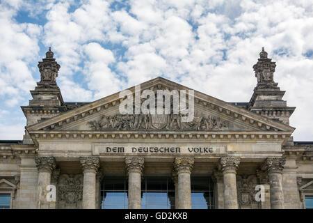Reichstag Berlin Stockbild