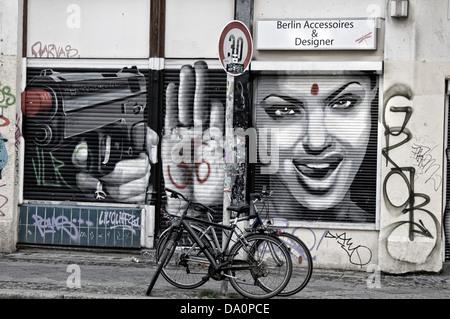 Graffiti in Kreuzberg, Berlin, Deutschland Stockbild