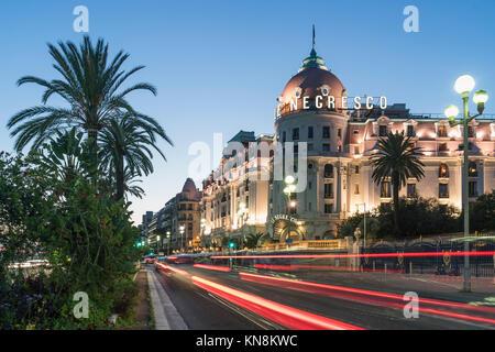 Hotel Negresco, Promenade des Anglais, Nizza, Côte d'Azur, Frankreich, Stockbild