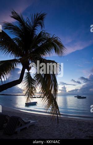 Mauritius - Afrika - Grand Baie am Abend Stockbild