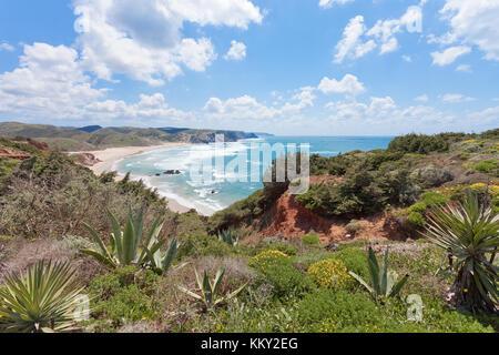Portugal - Algarve - Praia do Amado - Europa Stockbild