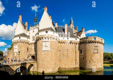 Frankreich, Pays de La Loire, Nantes, Schloss der Herzöge der Bretagne (Herzöge von Bretagne) Stockbild