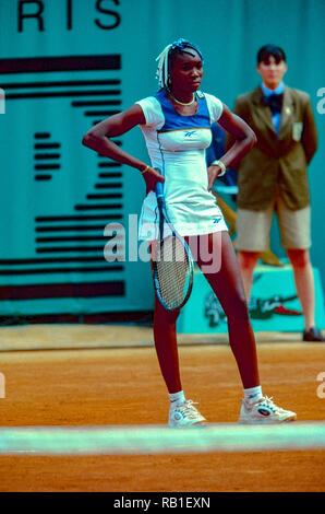 Venus Williams (USA), die 1998 auf der französischen OpenTennis Meisterschaft. Stockbild