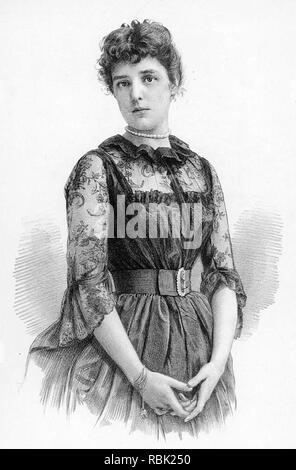 JENNIE JEROME (Lady Randolph Churchill) 1854-1921 Mutter von Winston Churchil Stockbild