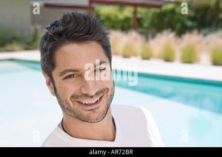 Mann lächelnd Stockbild