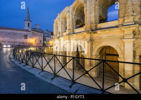 Amphitheater Arles, römische Arena, Arles, Provence Stockbild