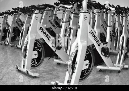 Spinning, Fitness, Hamburg, Deutschland Stockbild