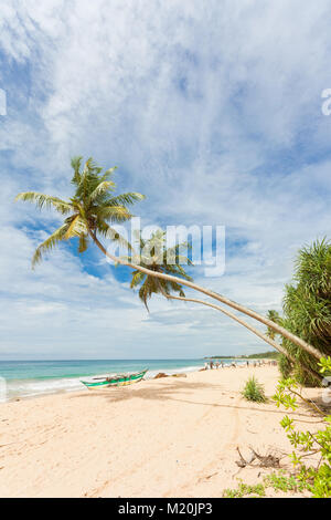 Balapitiya, Sri Lanka, Asien - geniessen Sie die herrliche Landschaft am Strand von Balapitiya Stockbild