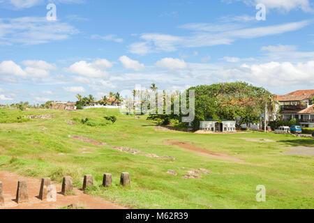 Galle, Sri Lanka, Asien - traditionelle Leben innerhalb der historischen Stadtmauer von Galle Stockbild