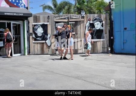 Wynwood Wände, Miami, Florida, USA Stockbild