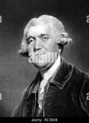 JOSIAH WEDGWOOD (1730-1795) Englische Keramik Hersteller Stockbild