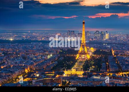 Ansicht von Paris mit Eiffelturm Stockbild
