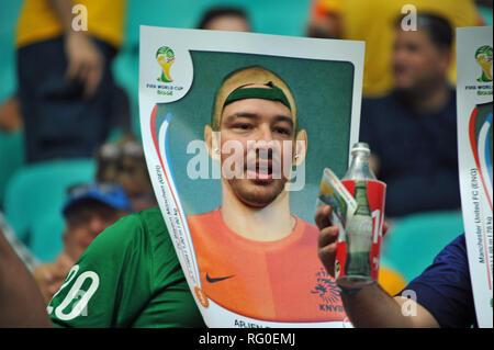 Fanszene, FIFA WM 2014, Salvador da Bahia, Brasilien Stockbild