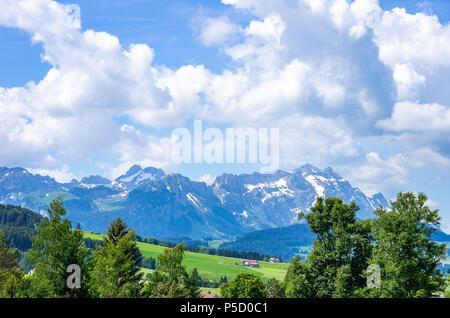 Blick auf Säntis in den Schweizer Alpen, Schweiz. Stockbild