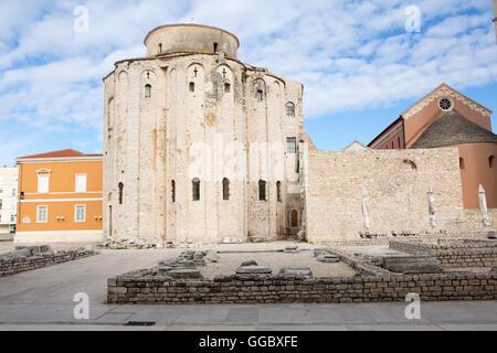 Geographie/Reisen, Kroatien, Dalmatien, Zadar, dem historischen Zentrum der Stadt, Römische Ruinen, Additional Stockbild
