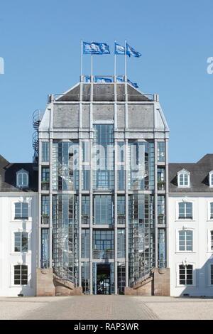 Saarbrücker Schloss, Saarbrücken, Saarland, Deutschland, Europa Stockbild