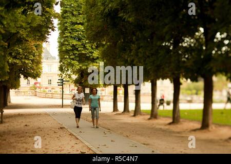 Jardin du Luxembourg, Quartier Latin, Paris, Frankreich Stockbild
