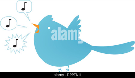Einen blauen Singvogel Stockbild