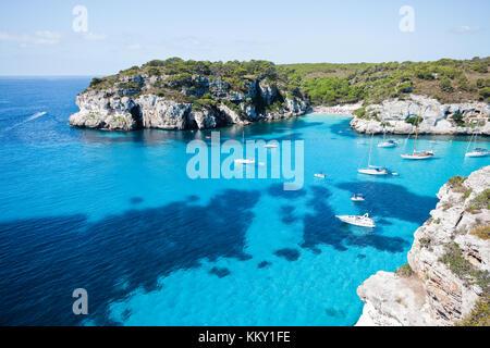 Cala Macarella - Cala Macarelleta - Menorca - Balearen Stockbild