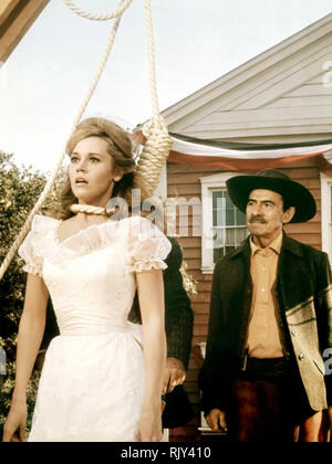 CAT BALLOU 1965 Columbia Pictures Film mit Jane Fonda Stockbild