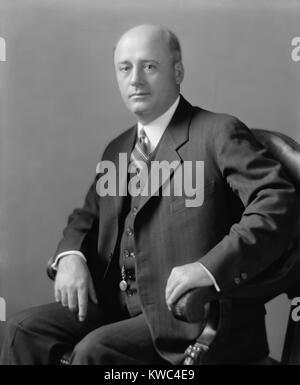 Kongressabgeordnete Sam Rayburn in den 1920er Jahren. Er stellte Texas' 4. Bezirk von 1913 bis 1961. 17 Jahre Stockbild