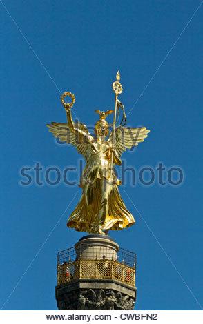 Siegessäule in Berlin Stockbild