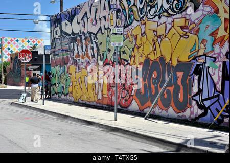 Tags, Wynwood, Miami, Florida, USA Stockbild