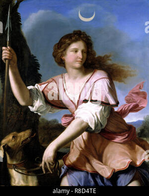 Diana (Diana Cacciatrice die Jägerin), 1658. In der Sammlung der Fondazione Sorgente Gruppe gefunden. Stockbild