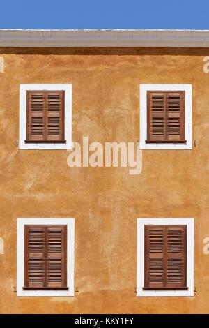 Haus Fassade - Menorca - Balearen Stockbild