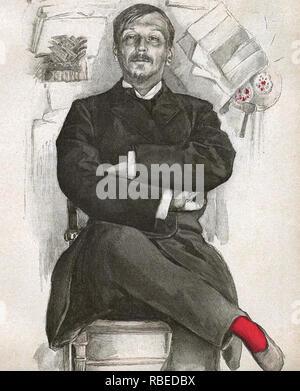 GEORGES COURTELINE (1858-1929), französischer Dramatiker und Romancier Stockbild