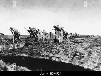 9 1917 1 0 A1 1 türkische Truppen Rumänien WWI Erster Weltkrieg Rumänien rumänische Kampagne Stockbild