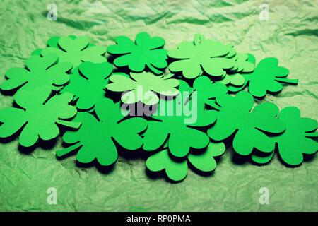 Klee Hintergrund über den Tag des heiligen Patrick Thema Stockbild