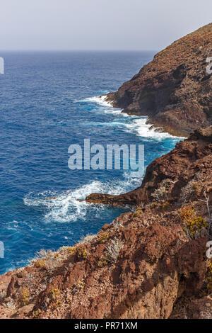 Vulkanischen Küste in La Palma, Kanarische Inseln Stockbild