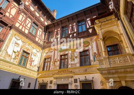Schloss Peles, Sinaia, Rumänien Stockbild