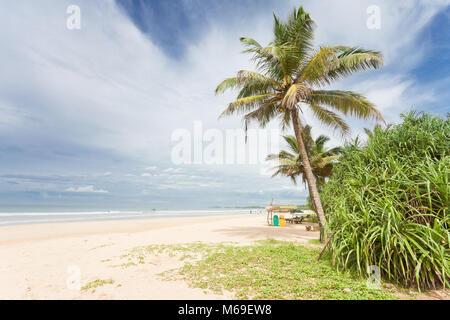 Bentota, Sri Lanka, Asien - einen wunderschönen Blick über den weiten Strand von Bentota Stockbild
