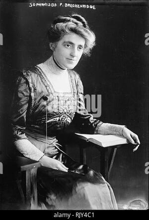 SOPHONISBA BRECKINRIDGE (1866-1948) amerikanischer Aktivist, Wirtschaftswissenschaftler, Sozialwissenschaftler. Stockbild