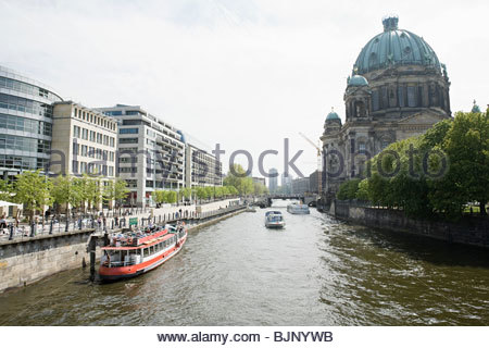 Fluss Spree berlin Stockbild