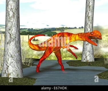 Dinosaurier Dilophosaurus / Dilophosaurus Dinosaurier Stockbild