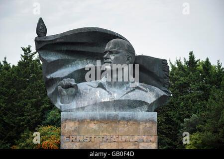 Berlin. Deutschland. Ernst-Thälmann-Denkmal im Prenzlauer Berg. Stockbild