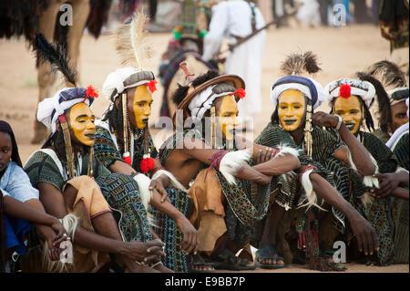 Wodaabe Peul Nomaden auf die Cure Salée Festival in Niger Stockbild
