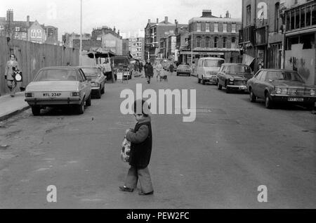 Hoxton Street Market East London UK 1978. Stockbild