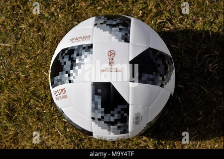 Adidas Telstar Fussball-WM 2018 Stockbild