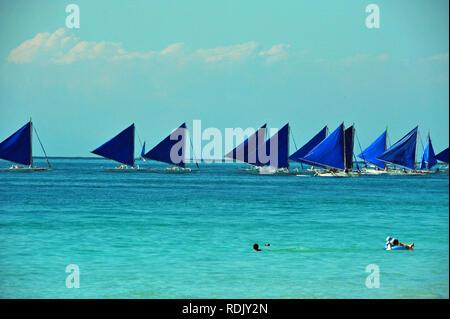 Sailingtrip, Boracay, Philippinen Stockbild