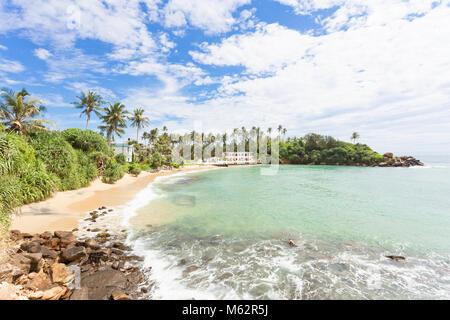 Ahangama, Sri Lanka, Asien - Ruhen auf die wunderschöne Bucht von Ahangama Stockbild