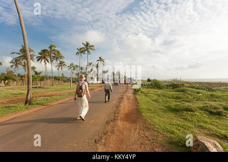 Wandern am Strand von toduwala, Sri Lanka, Asien Stockbild