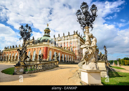 Neues Palais in Potsdam, Deutschland. Stockbild