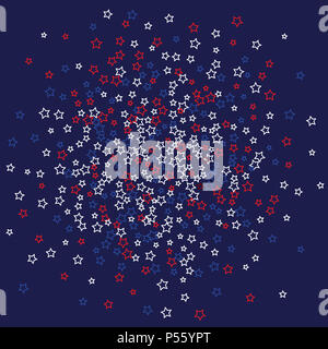 Hintergrund von Sternen mit amerikanischen Flagge Farben Stockbild